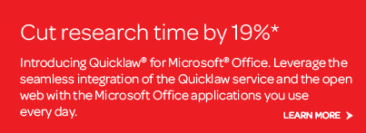 Quicklaw for Microsoft Office