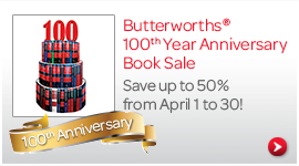 Butterworths 100th Anniversary Book Sale