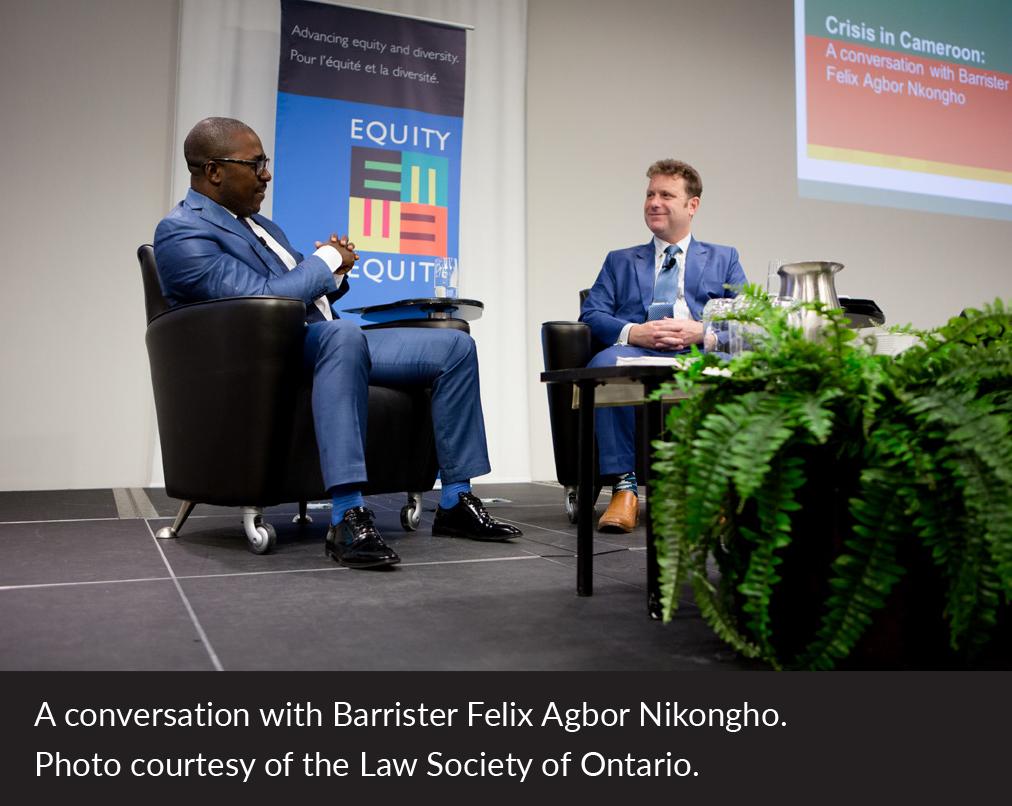 A conversation with Barrister Felix Agbor Nikongho