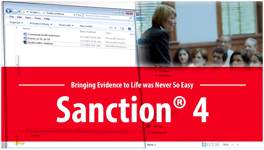 Sanction 4 Litigation Presentation Software